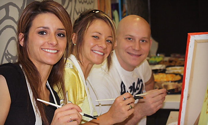 Rembrandt All You Can Art - Covington: BYOB Painting Class for Two or Four at Rembrandt All You Can Art in Covington (Up to 69% Off)