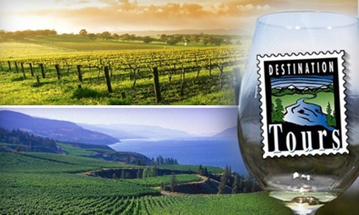 Destination Tours - Multiple Locations: $84 for a Choice of Naramata Wine Tour or Kelowna Wine Tour from Destination Tours