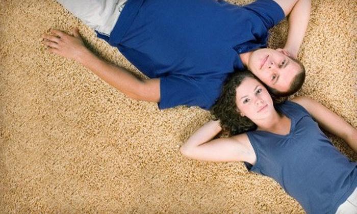 Heaven's Best Carpet Cleaning - Wrigley: Upholstery Cleaning or Three Rooms of Carpet Cleaning from Heaven's Best Carpet Cleaning (Up to 65% Off)