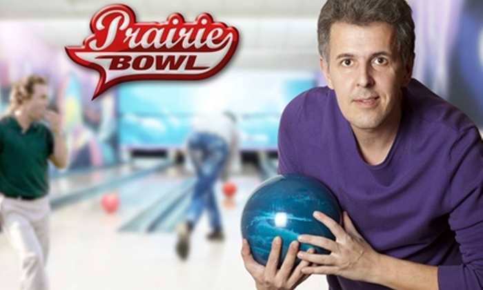 Prairie Bowl - El Dorado: $20 for Two Games of Family Bowling, Shoe Rental, and a Large Pizza at Prairie Bowl in El Dorado (Up to $40.62 Value)