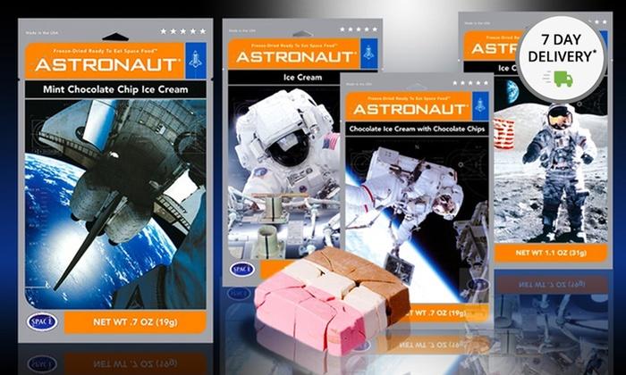 Astronaut Ice Cream 6-Piece Sampler: Freeze-Dried Astronaut Ice Cream 6-Piece Sampler