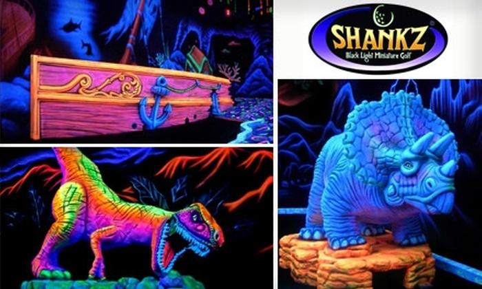 Shankz Black Light Miniature Golf - Multiple Locations: $10 for Black-Light Mini-Golf Package Deal at Shankz