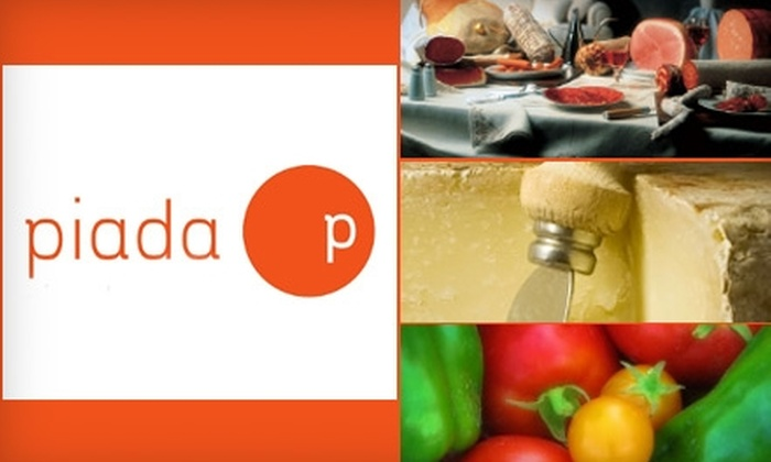 Piada - Multiple Locations: $6 for $12 of Italian Flatbread Sandwiches and More at Piada