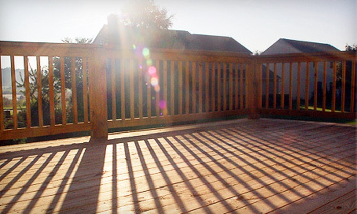 Buck's Lawn Service - Chapel Hill: Deck Pressure Washing and Staining for Up to 100, 250, or 400 Square Feet from Buck's Lawn Service (Up to 54% Off)