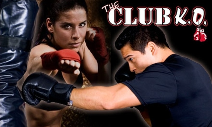 The Club K.O. - Northwest Side: $25 for 25 Drop-In Kickboxing, Cardio Boxing, and Technique Classes at The Club K.O. ($275 Value)
