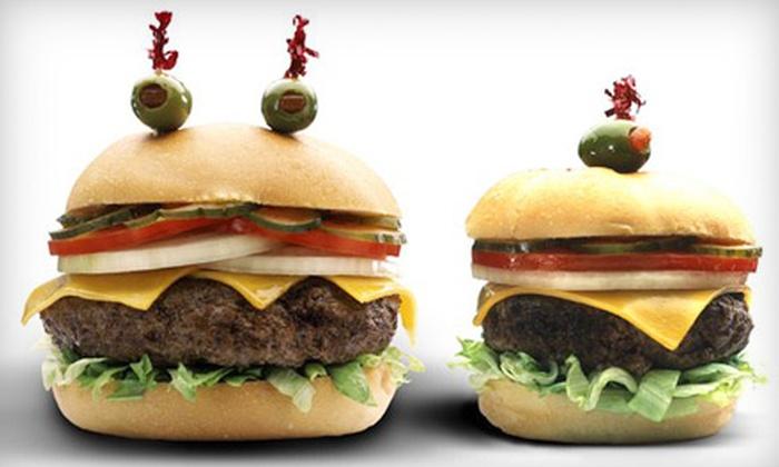 Cheeburger Cheeburger  - Downtown Chattanooga: Burgers and Drinks or Four Milkshakes at Cheeburger Cheeburger