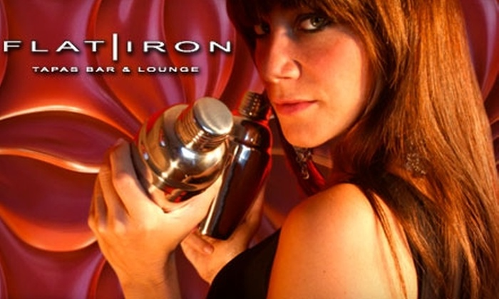 Flat Iron Tapas Bar & Lounge - Downtown: $15 for $30 Worth of Fare at Flat Iron Tapas Bar & Lounge