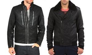 Young Machine & Black Hearts Brigade Men's Faux Leather Jackets: Young Machine & Black Hearts Brigade Men's Faux Leather Jackets