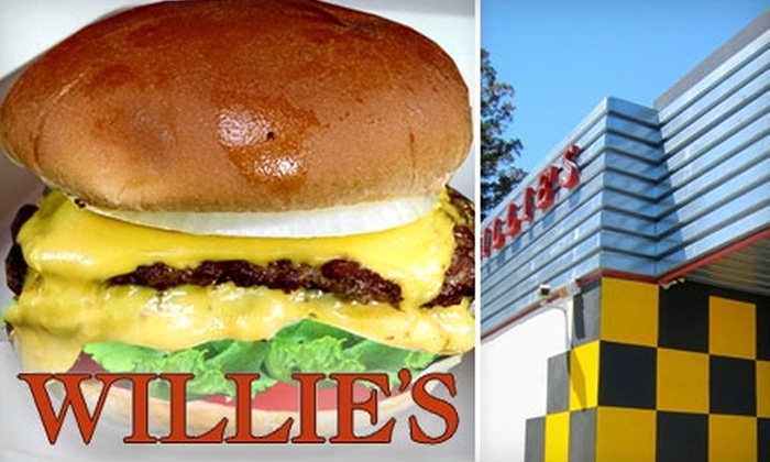 Willie's Hamburgers and Chiliburgers - Multiple Locations: $7 for $14 Worth of All-American Fare at Willie's Hamburgers and Chiliburgers