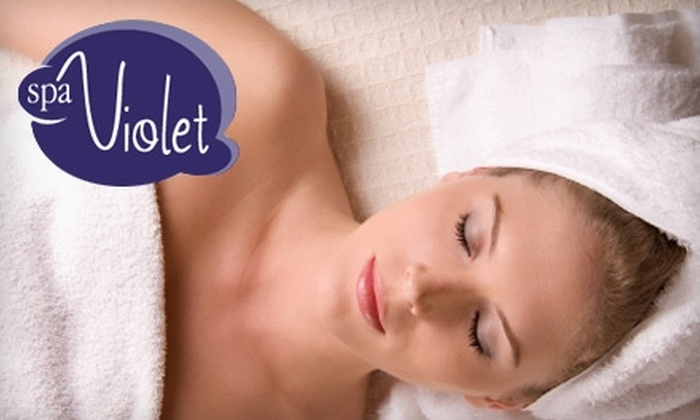 spaViolet - Solana Beach: $69 for a 50-Minute Infrared Body Wrap and Acupressure Face Massage at spaViolet in Solana Beach ($145 Value)