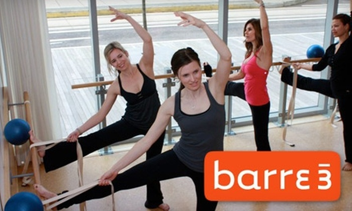 barre3 - Hosford - Abernethy: $15 for Three Workout Classes at barre3 ($30 Value)