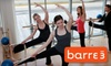 barre3 - Multiple Locations: $15 for Three Workout Classes at barre3 ($30 Value)