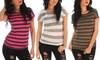 Striped Knit Tees: Striped Knit Tees
