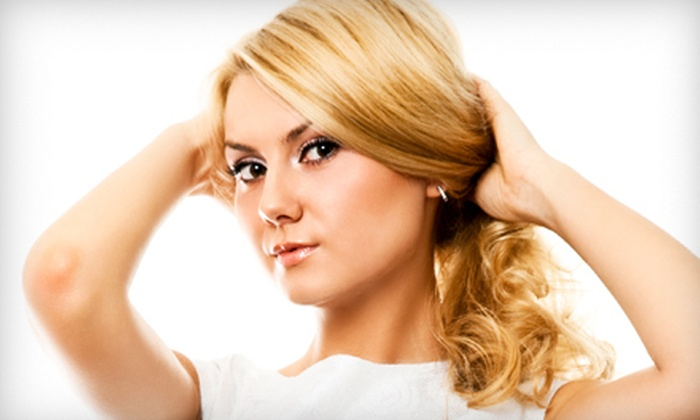 Lisbon by Ana Hair Salon and Spa - Sudley: Styling Package with Optional Conditioning, or Partial or Full Highlights at Lisbon By Ana Hair Salon and Spa (Half Off)