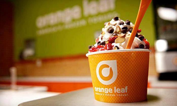 Orange Leaf - Multiple Locations: Frozen Yogurt at Orange Leaf (Half Off). Two Options Available.