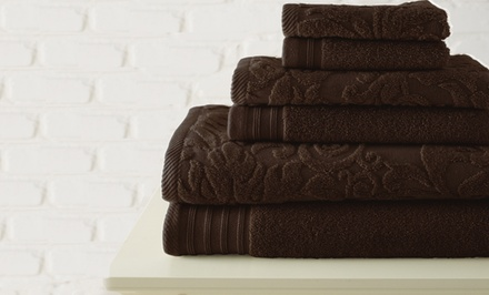 100% Egyptian Cotton Jacquard and Solid 6-Piece Towel Sets. Multiple Colors Available. Free Returns.