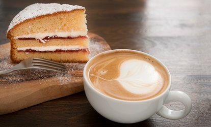 Hot Drink and Cake for Two or Four at Harry's Coffee House