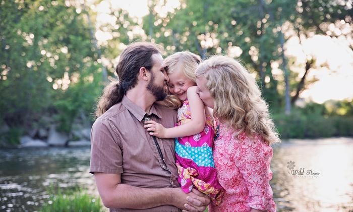 Wild Flower Photography Llc - Boise: 60-Minute Family Photo Shoot from Wild Flower Photography LLC (70% Off)