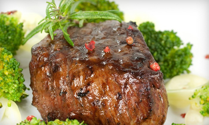 Max & Sam's Bar & Grill - St. Petersburg: $50 for a Five-Course Classic Chophouse Dinner for Two at Max & Sam's Bar & Grill in St. Petersburg (Up to $99 Value)