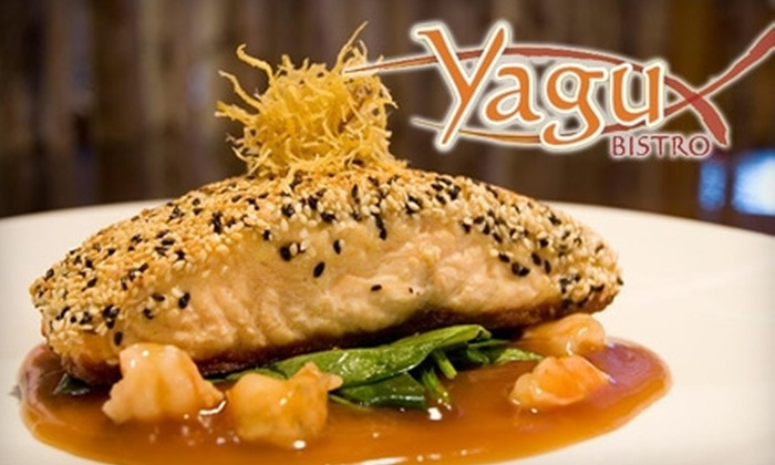 YAGU Asian Fusion Restaurant - Chesterfield: $12 for $25 Worth of Modern Japanese Sushi & Drinks at YAGU Asian Fusion Restaurant in Chesterfield