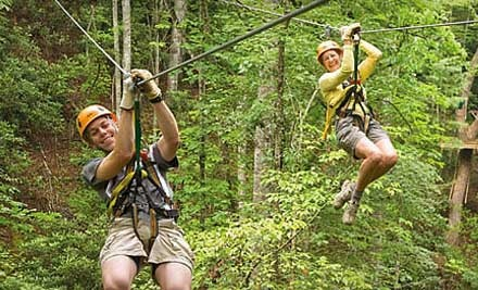 Zipline Adventure for One (up to a $79 value) - Wildwater Zipline Canopy Tours in Ducktown