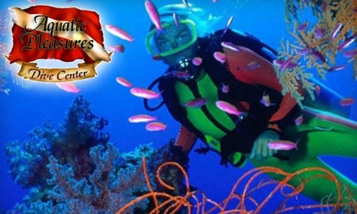 Aquatic Pleasures Dive Center - Kings Mountain: $30 for a Try Scuba Class at Aquatic Pleasures Dive Center in Kings Mountain ($75 Value)