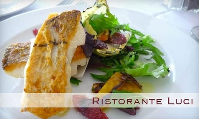 Ristorante Luci - Macalester - Groveland: $15 for $35 Worth of Italian Fare and Drinks at Ristorante Luci