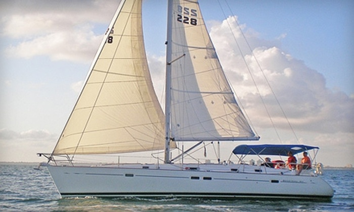 Carlin Sailing - Key Biscayne: $399 for a Five-Hour, Half-Day Charter for Up to Six People from Carlin Sailing in Key Biscayne (Up to $763 Value)