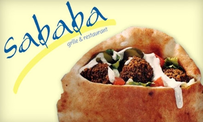 Sababa - The Lakes/Country Club: $10 for $20 Worth of Middle Eastern Cuisine and Drinks at Sababa