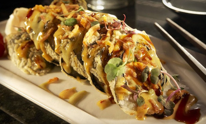 Sensu - Wholesale District: $75 for a Prix Fixe Asian Fusion Dinner for Two with Bottle of Champagne at Sensu (Up to $238 Value)