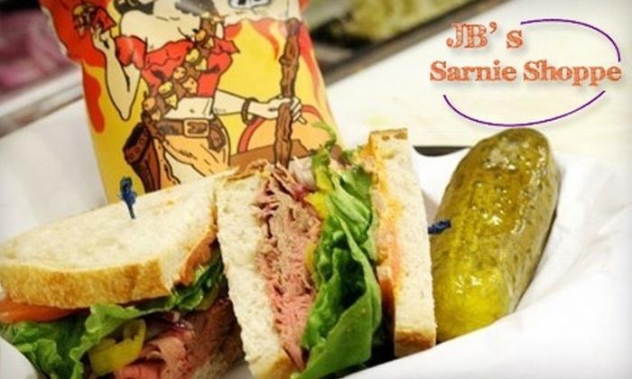 JB's Sarnie Shoppe - Perrysburg: $7 for $15 Worth of Fresh Deli Fare and More at JB's Sarnie Shoppe