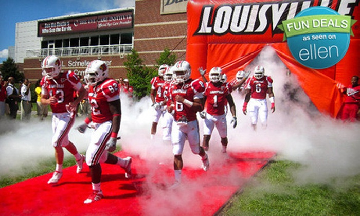 University of Louisville vs. Rutgers University Football - Fairgrounds: $20 for Four Tickets to Louisville Cardinals Football Home Game at Papa John's Cardinal Stadium on October 21 ($40 Value)