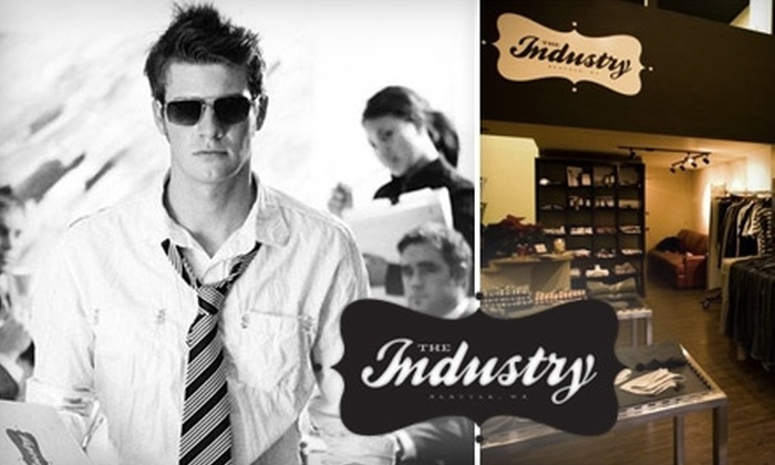 The Industry - Belltown: $35 for $80 Worth of Denim and Fashionable Menswear at The Industry