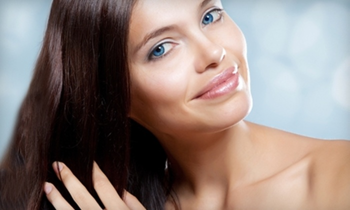 Reflections Hair Designs & Spa - Glebe - Dows Lake: $48 for a Spa Mani-Pedi ($120 Value) or $49 for a Cut and Colour (Up to $131 Value) at Reflections Hair Designs & Spa