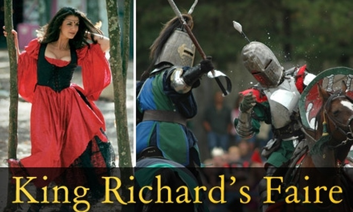 King Richard's Faire - Carver: $15 Ticket to King Richard's Faire in Carver ($26 Value)