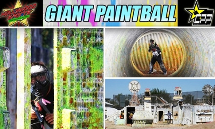 Giant Paintball - Multiple Locations: $29 for a Full-Day of Paintball at Hollywood Sports Park or California Paintball Park, Including Equipment and 200 Paintballs