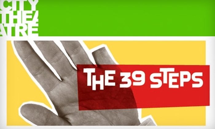 """City Theatre - Southside Flats: Up to 53% Off One Ticket to See """"The 39 Steps"""" at City Theatre (Up to $60 Value). Choose from Multiple Dates."""