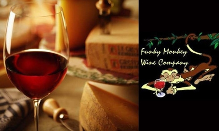 Funky Monkey Wine Company - Multiple Locations: $20 for $40 Worth of Upscale Cuisine, Fine Wine, and More at Funky Monkey Wine Company