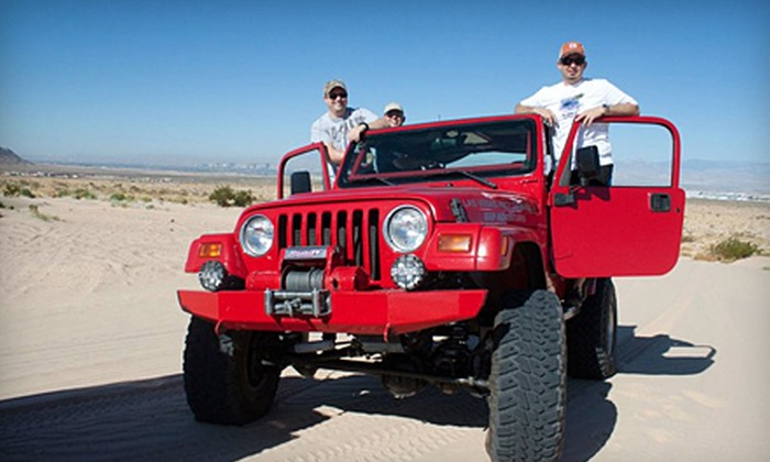 Las Vegas Rock Crawlers - Excalibur: Outdoor Jeep Excursions for Two, Three, or Four at Apex Nellis Sand Dunes from Las Vegas Rock Crawlers