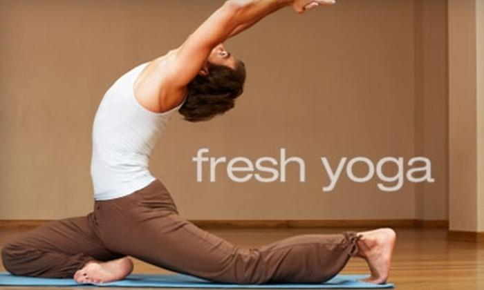 Fresh Yoga - Remmington Park: $30 for a 10-Class Card at Fresh Yoga