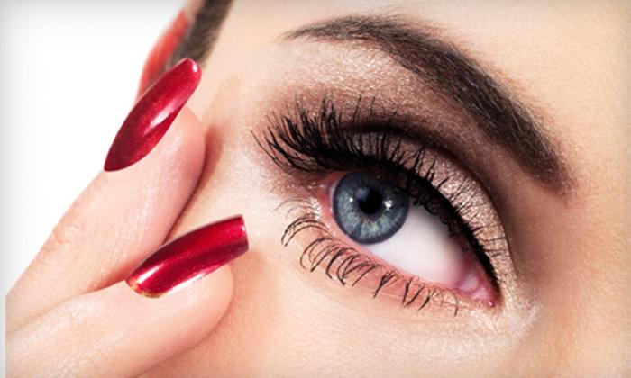 Eye Candy Salon - T. Edison School: Manicure and Eyebrow Wax, Women's Haircut Package, or Women's Haircut with Color at Eye Candy Salon in Tonawanda
