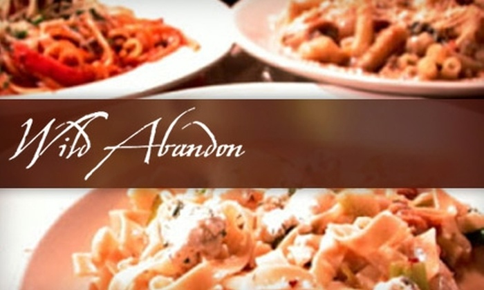 Wild Abandon Restaurant and Lounge - Buckman: $12 for $25 Worth of Eclectic Dinner Cuisine and Drinks at Wild Abandon Restaurant and Lounge (or $7 for $15 Worth of Brunch Fare and Drinks)