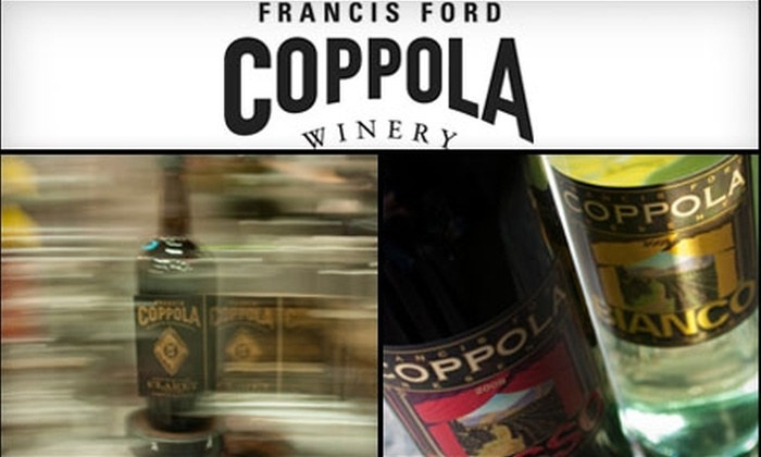 Francis Ford Coppola Winery - Cloverdale-Geyserville: $12 for Admission for Two to the Bottling Ballet Mechanique Tour and Tasting at the Francis Ford Coppola Winery in Geyserville ($30 Value)