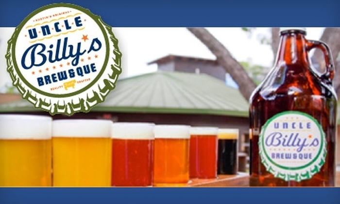 Uncle Billy's Brew & Que  - Multiple Locations: $10 for $20 Worth of Savory Barbecue, Burgers, and Salads at Uncle Billy's Brew & Que