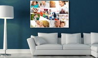 Photo Collage on Canvas With Wooden Frame from AED 49 (Up to 67% Off)