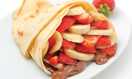 One or Three Groupons, Each Good for $10 Worth of Crepes or Gelato at Crepe Delicious/Froshberg Gelato (40% Off)