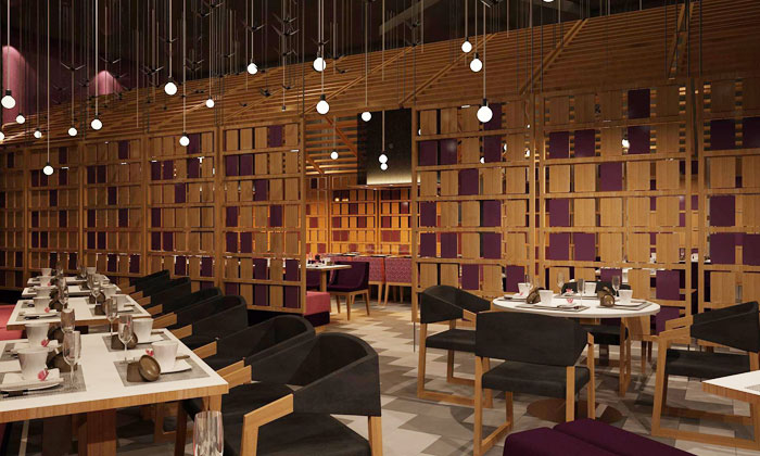 4 course veg non veg indian meal plum asian bistro for Interior decoration courses in chandigarh