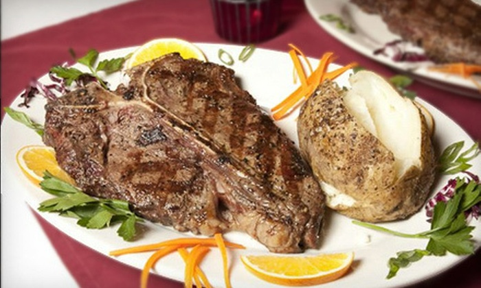 Anastasio's Steakhouse - East Shore: Steaks and Italian Cuisine at Anastasio's Steakhouse in East Haven (Up to 53% Off). Two Options Available.