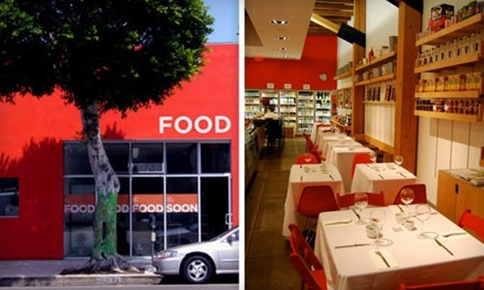 FOOD - Rancho Park: $10 for $20 Worth of Ready-Made Café Fare and Drinks at FOOD