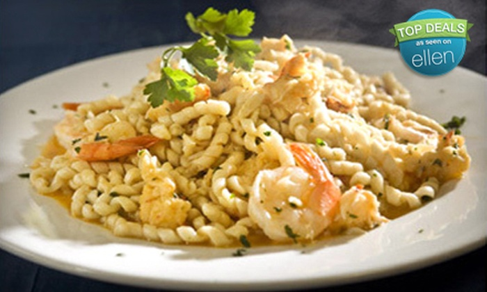 D'Amelio's Off the Boat Italian and Seafood - West Revere: Three-Course Italian Seafood Dinner for Two or Four at D'Amelio's Off the Boat Italian and Seafood (Up to 65% Off)